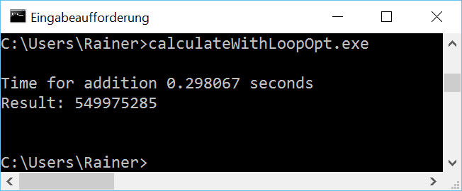CalculateWithLoopOpt win