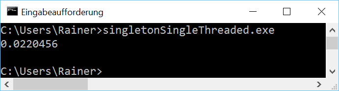 singletonSingleThreaded win opt